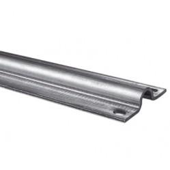 Came ROAD 3 - рельс оцинкованный, полукруглое сечение, крепление винтами, 3 м (арт. 1700204)