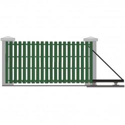 Ворота откатные с евроштакетником 5250х2250 мм