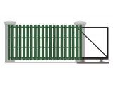 Откатные ворота c евроштакетником