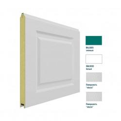 Панель 575мм Нфиленка260/Нстукко зеленая(RAL6005)/белая(RAL9003)