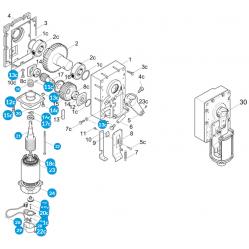 CAME Электродвигатель G2081 в сборе 119RIG154