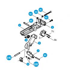 CAME Механизм верхний профиля DF 119RIR226